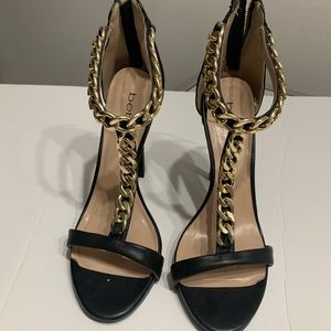 Bebe gold detailed heels